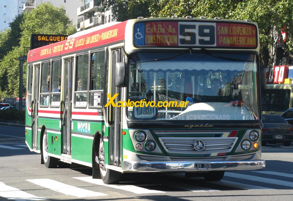 Linea 59 A Estacion Buenos Aires Constitucion Obelisco
